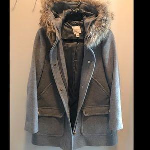 J crew grey coat